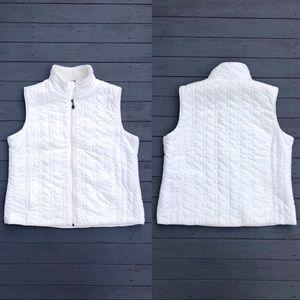 Laura Scott fleece-lined zip-up puffer vest XL